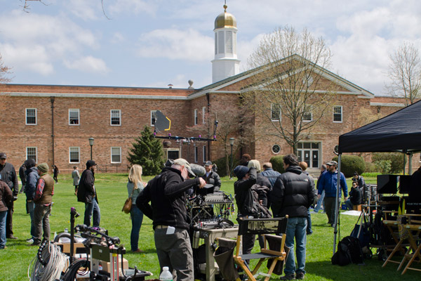filming on campus at liu post