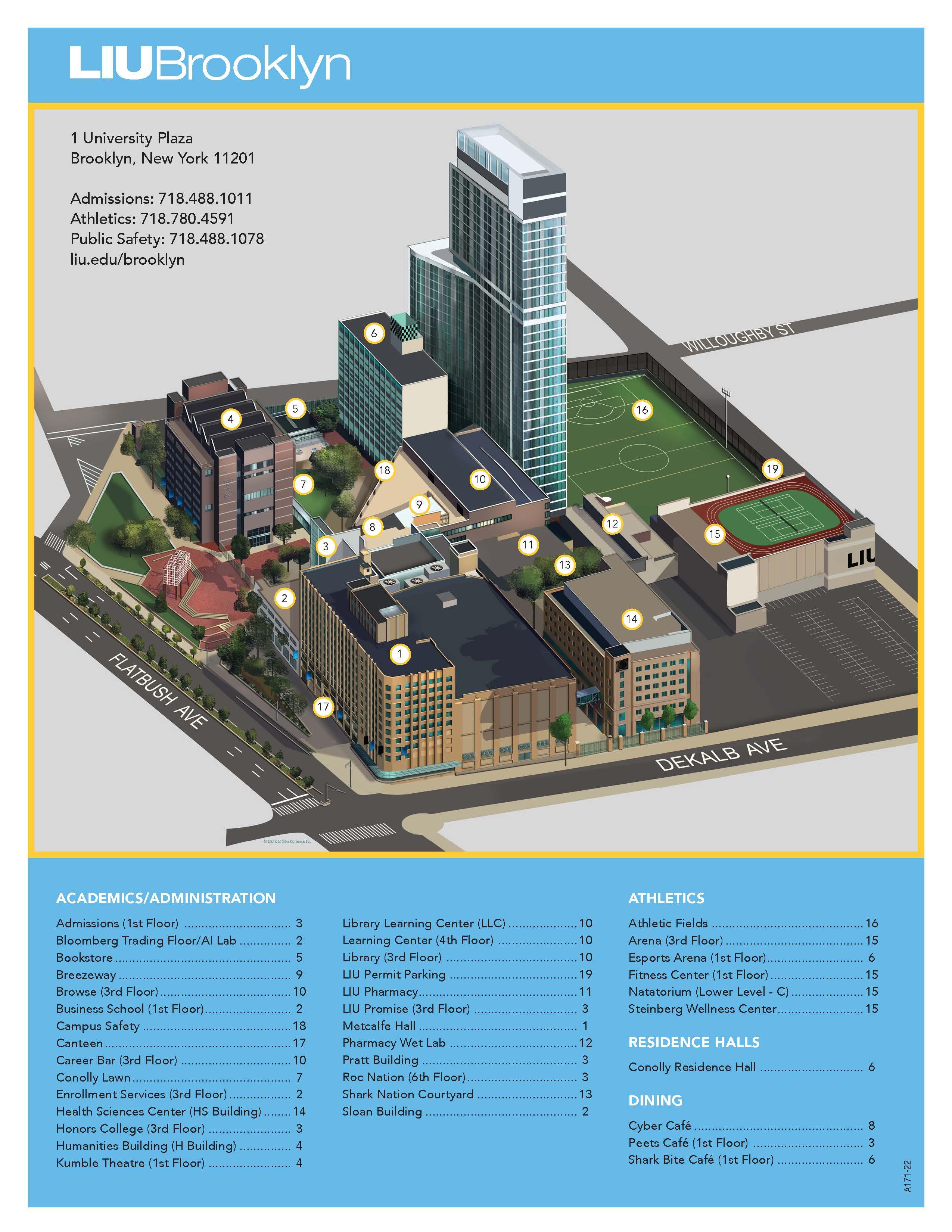 The New School Campus Map.Campus Map Liu