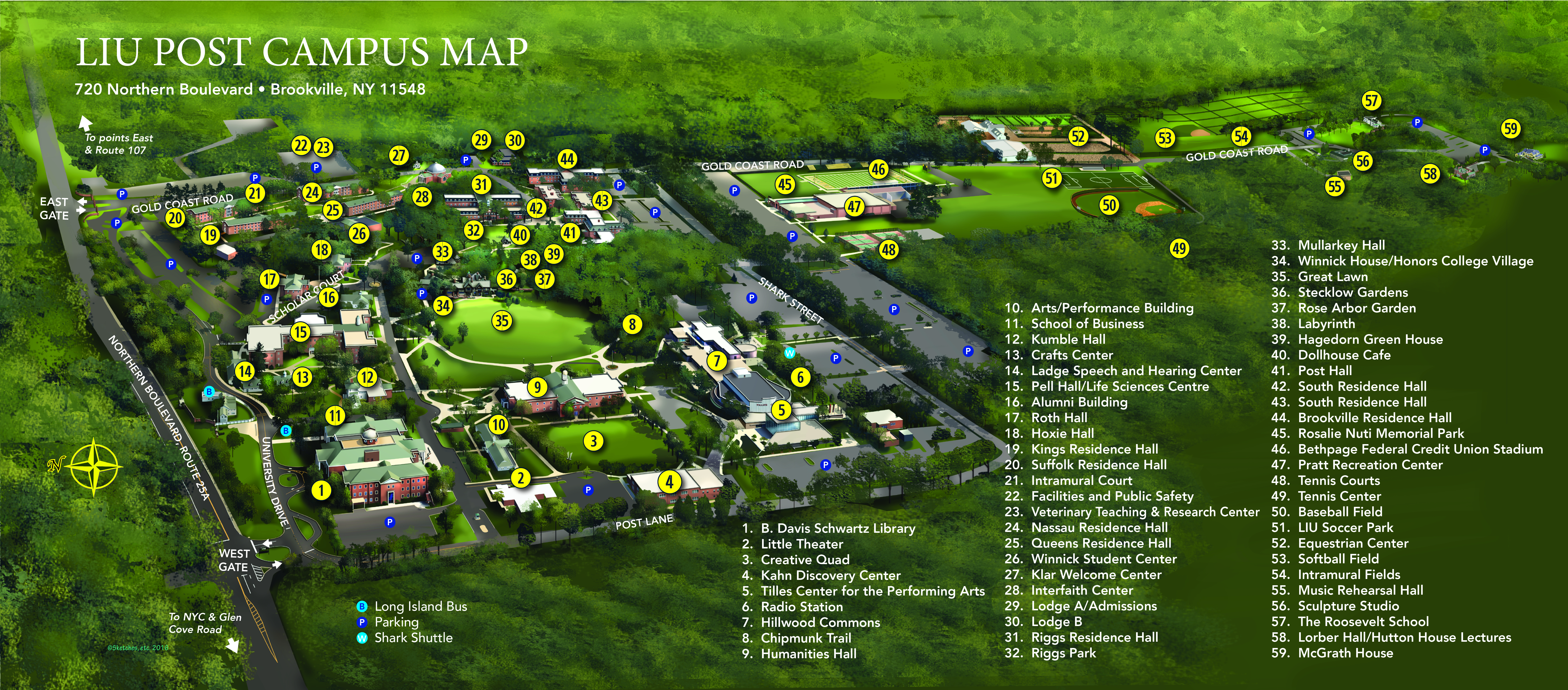 Brockton Va Campus Map.Campus Map Liu