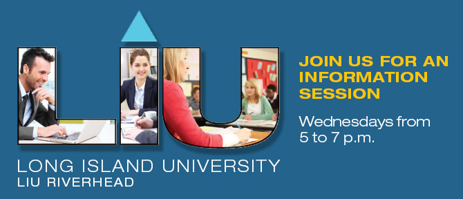 Join Us for an Information Session, Wednesdays from 5 to 7 pm