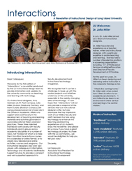 Interactions Newsletter Fall 2011