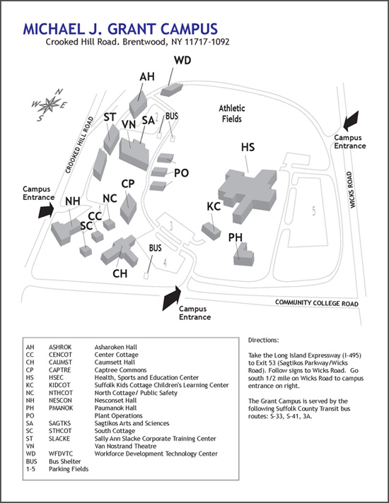 Brentwood Campus Map