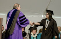 Michele Lopez at commencement