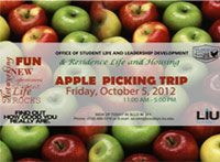 LIU Brooklyn Apple Picking