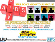 LIU Brooklyn HIV-AIDS Testing November 11, 2012 - August 22, 2013