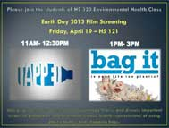 LIU Brooklyn Earth Day Film Screening April 19, 2013