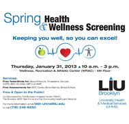 LIU Brooklyn Spring Health & Wellness Screening
