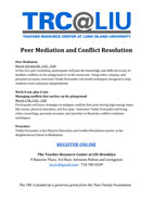 Peer Mediation and Conflict Resolution Teacher Resource Center