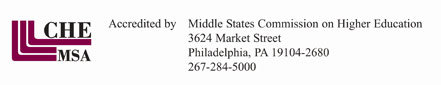 CHE MSA Accredited by Middle States Commission on Higher Education 3624 Market Street Philadelphia, PA 19104-2680 267-284-5000