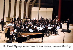LIU Post Symphonic Band Conductor James McRoy