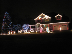 Catalano holiday display lights on house