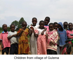 Children from village of Gulema