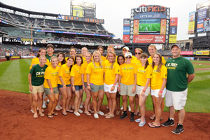 Womens Lacrosse Team Honored at Mets Game