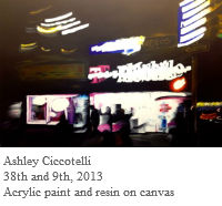 Ashley Ciccotelli, 38th and 9th, 2013, Acrylic paint and resin on canvas