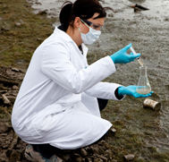 Student Studying Environmental Science