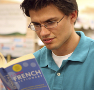Student Studying French