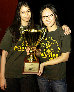 Anouva Kalra-Lall, our 2009 1st place winner with Yvette Leung, our 2010 1st place winner.