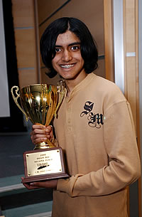 Winner, Sunil Kunnakkat of Lynbrook High School represented Long Island University at the National Brain Bee competition in Maryland in 2008.