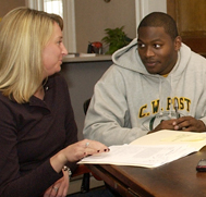 Financial Aid Counselor with Student