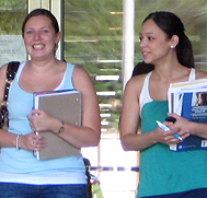 Two Students at Orientation