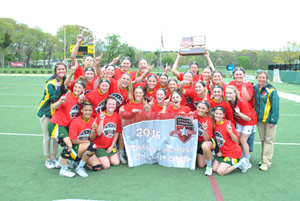 Women's Lacrosse Repeats As ECC Champions with 7-6 Win Over Dowling