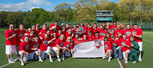 Men's Lacrosse Wins Fourth-Straight ECC Crown; Beats NYIT, 12-11